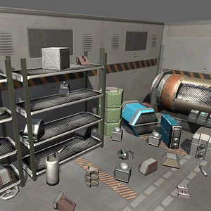Sci-fi Objects Pack 1 3D