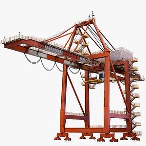 port container crane 3D