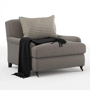 classic roll arm chair 3D