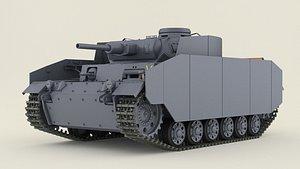 german tank h 3D model