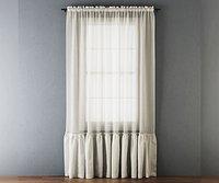 Ruffled Cotton Tulle Curtain