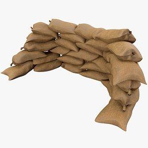 Sandbag  v3 With Pbr 4K 8K 3D model