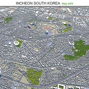 3D Incheon South Korea model