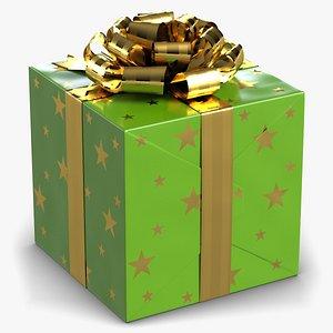 green gift box 3d model