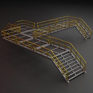 3D Modular industrial catwalk
