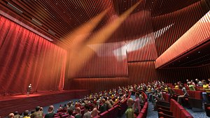 Theatre Chinese theatre cinema screening hall shadow play projection screen cinema indoor cinema ope 3D