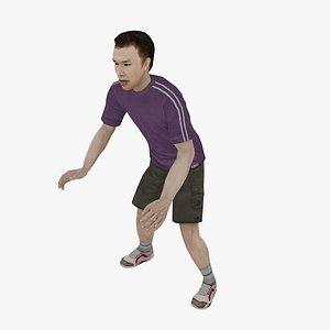 3D man people model