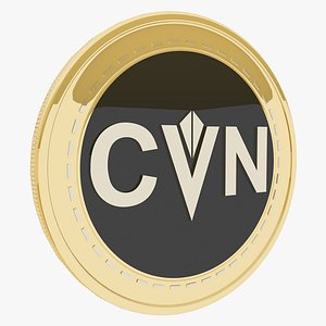 3D Content Value Network Cryptocurrency Gold Coin model