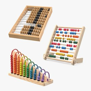 3D Wooden Abacus Collection
