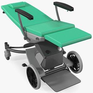 multifunctional transport chair unfolded 3D model