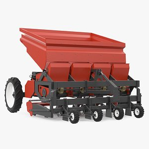 Potato Planter Red 3D model