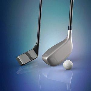 golf clubs 3D model