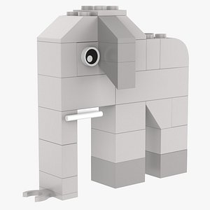 3D Lego Elephant Animal
