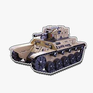 3D Sci-Fi Tank 1