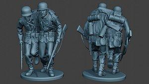 3D german soldiers ww2 help