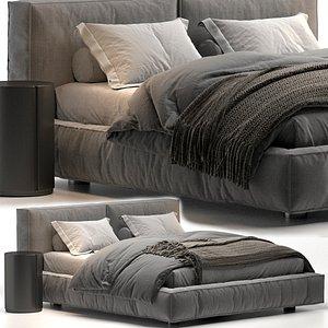 3D model Academy Piuma Twils bed