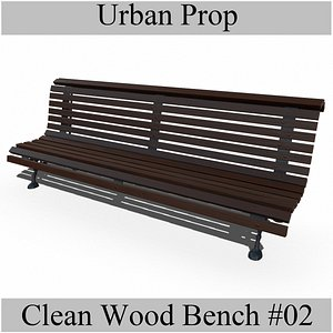 CleanWoodBench02 model