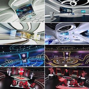 Big Futuristic TV Studio Collection 8 in 1 model