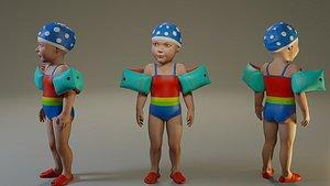 child female swwimmingpool acc0203009 3D model
