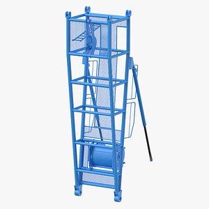 crane d pivot section model