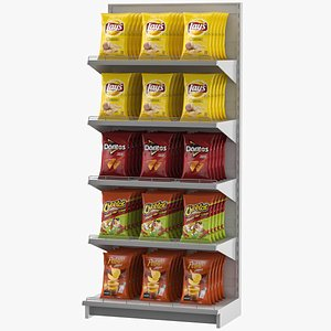 shelves display chips 3D model