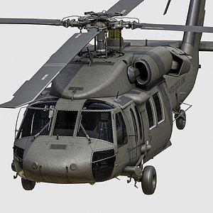 3D model uh60 black hawk