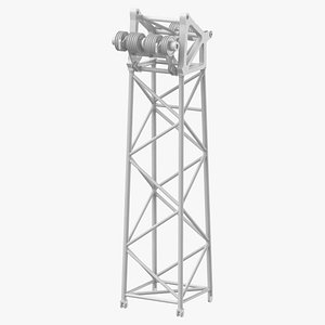 3D crane l head section model