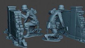 german soldier ww2 cover 3D model