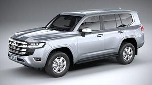Toyota Land Cruiser GX 2022 3D model