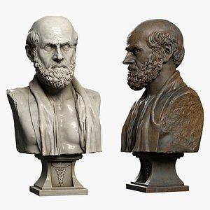 3d hippocrates greek physician model