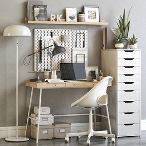 3D IKEA office workplace 65