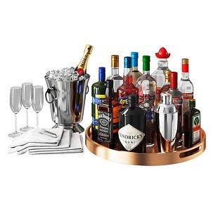3D alcohol rack