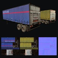 Trailer Low-poly game ready 3D model