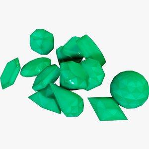gemstone gem stone 3D model