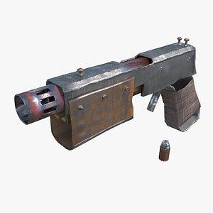 postapocalyptic pistol 3D