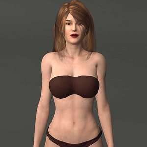 3D bikini rigged games model