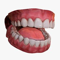 Mouth Teeth for Game Character Low-poly