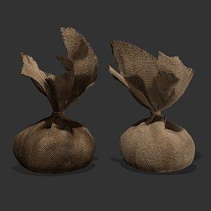 3D Medieval Cheese Sacks