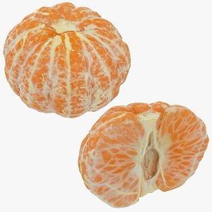 3D peeled mandarin