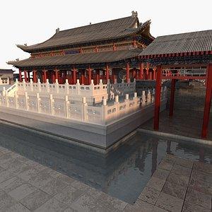 ancient hall 3D