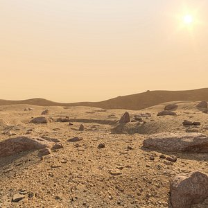 mars surface 3D