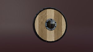 3D wooden medieval shield