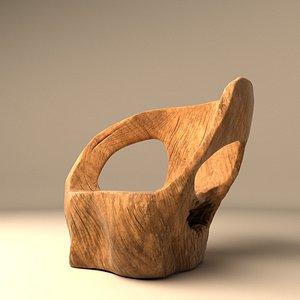 armchair chair subculture 3D model