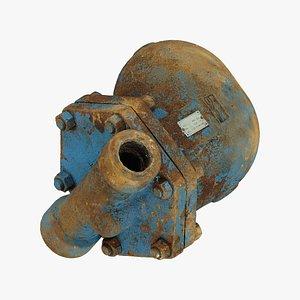 Rusty Water Pump Raw Scanned 3D model