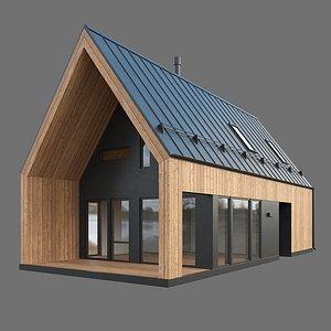 3D Barn House