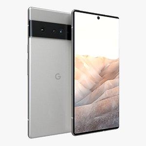 3D Google Pixel 6 Pro Very Silver
