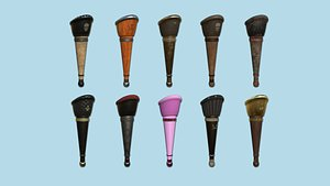 10 Pirate Pegleg Collection - Character Design Fashion 3D model