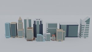3D buildings architecture