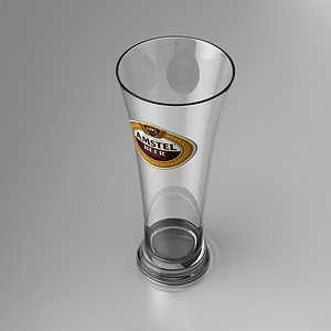 3D beer amstel glass model