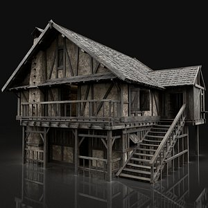 aaa medieval city 3D model
